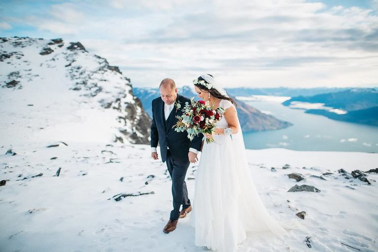 Cecil Peak Mountain Wedding photos Queenstown