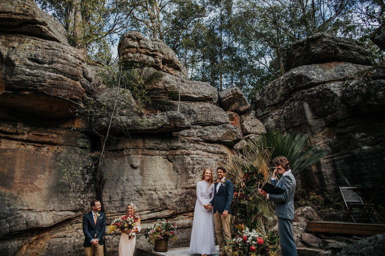 Michelle and Luke's Kangaroo Valley Bush Retreat Wedding