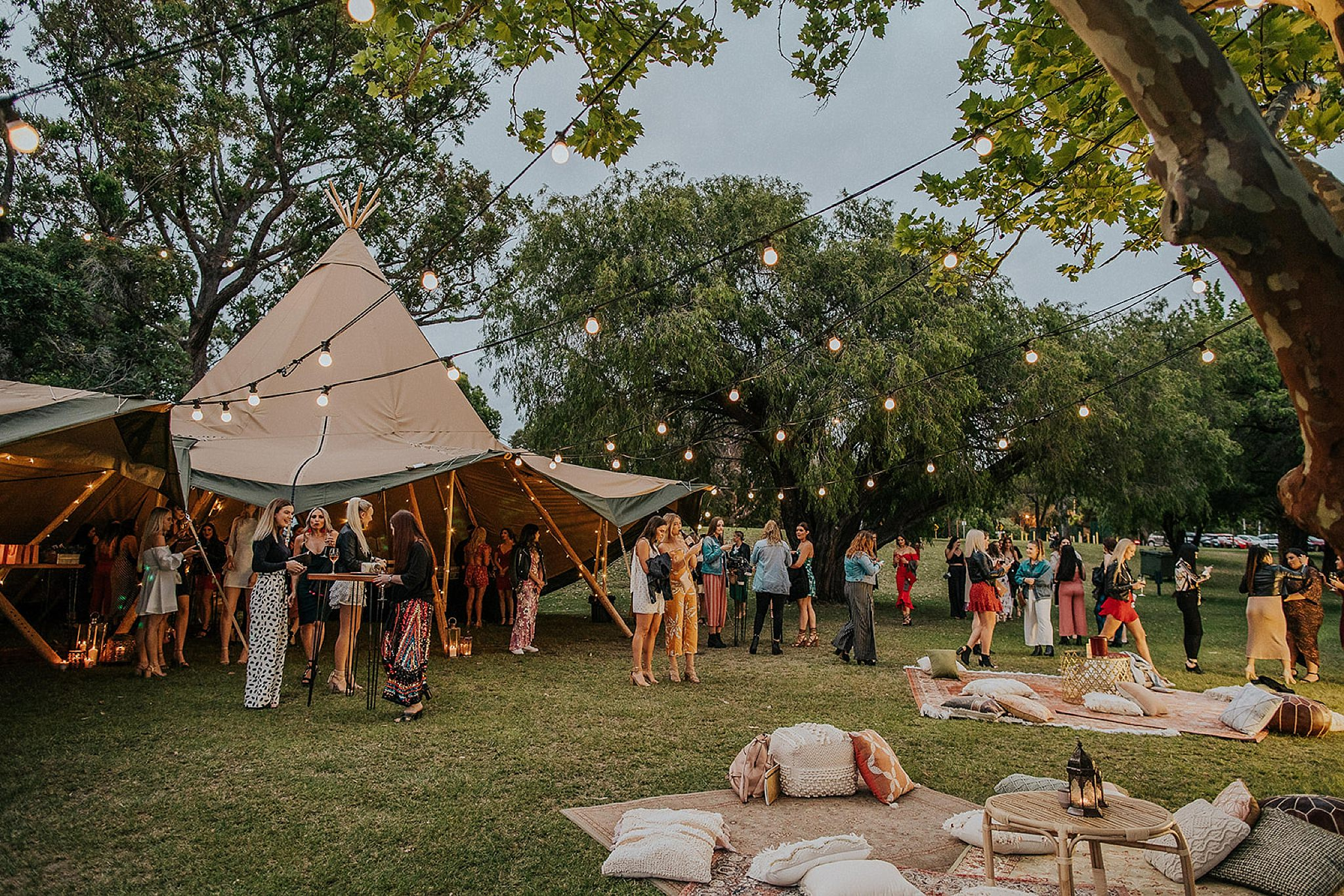 Hens party ideas Perth and Down South Tipi | Kate Drennan