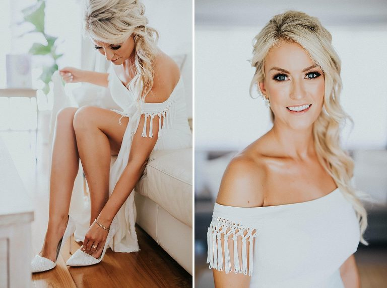 Janine and Jeff's Beach wedding with Butcher Baker Stylist, Rose and Bud and Rue De Seine Bridal.