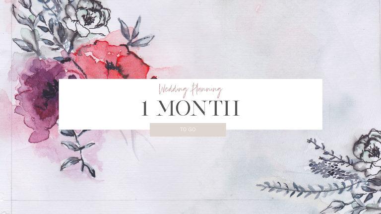Wedding planning checklist 1 months before your wedding
