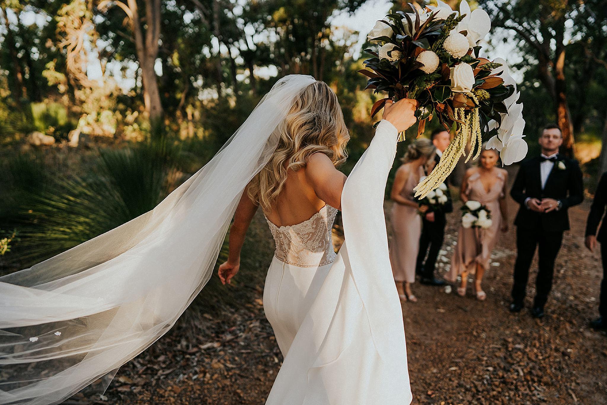 Credaro Wines Wedding venue Yallingup. Flowers by De La Terre.